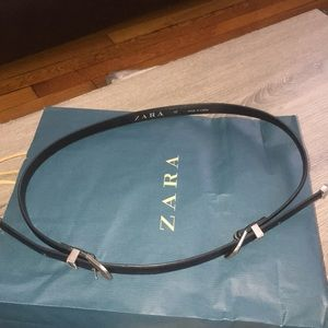 Zara Accessories - Zara Double Buckle Skinny Belt